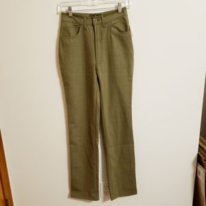 Fendi Olive Color Polyester/Wool Pant..28..NWT$255